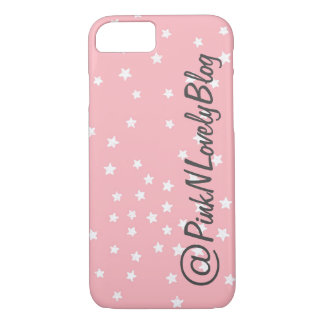 Pink Stars Social Media iPhone 7 Case