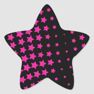 PINK STARS STAR STICKER