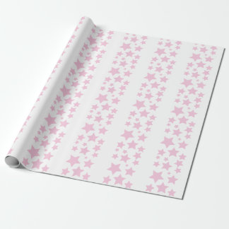 Pink Stars Wrapping Paper