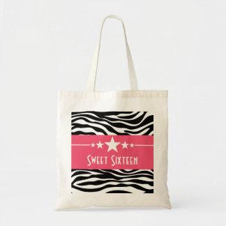 Pink Stars Zebra Print Sweet 16 Bag
