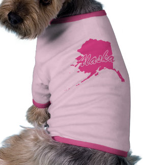 Pink State Alaska Doggie Tshirt