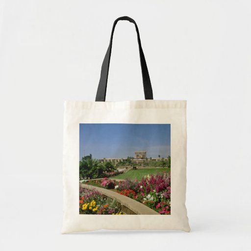 Pink State capitol, flower gardens, Phoenix, Arizo Budget Tote Bag