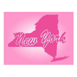 Pink State New York Postcard