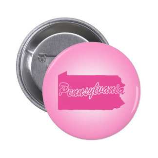 Pink State Pennsylvania 2 Inch Round Button