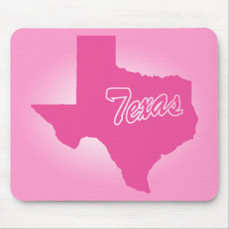 Pink State Texas Mouse Pad