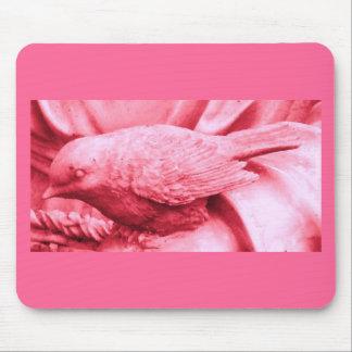 Pink Statuary Bird Mouse Pad