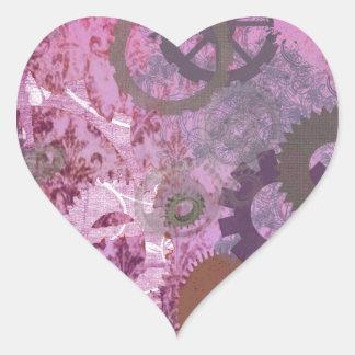 Pink Steampunk Heart Sticker