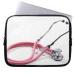 Pink Stethoscope Laptop Sleeves