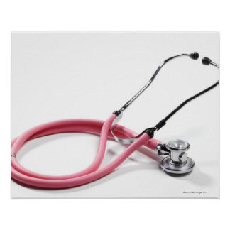 Pink Stethoscope Poster