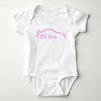 Pink STI Baby Logo Baby Bodysuit