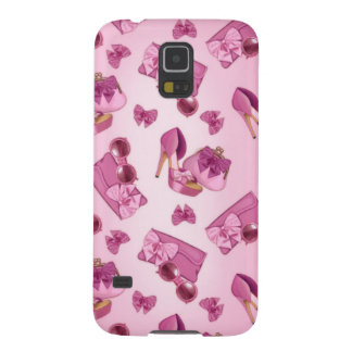Pink stiletto and bow purse galaxy s5 covers