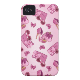 Pink stiletto and bow purse iPhone 4 case