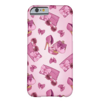 Pink stiletto and bow purse barely there iPhone 6 case