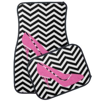 Pink Stiletto Car Mats