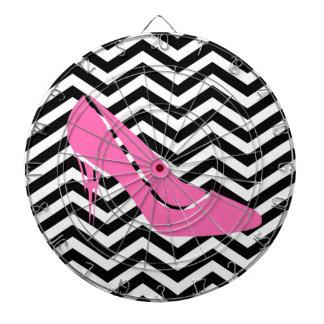 Pink Stiletto Dart Board