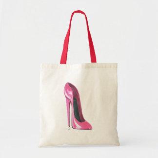 Pink Stiletto High Heel Shoe Art Bag