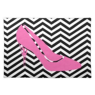 Pink Stiletto Placemats Cloth Place Mat