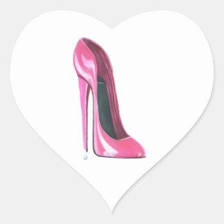 Pink Stiletto Shoe Art Stickers