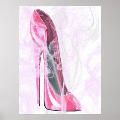 Pink Stiletto Shoe in Gossamer Poster