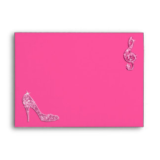 Pink Stiletto Shoe & Music Envelope