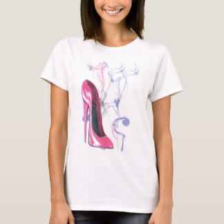 Pink Stiletto Shoe T-Shirt