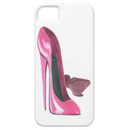 Pink Stiletto Shoes Art iPhone 5 Covers