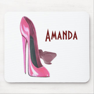 Pink Stiletto Shoes Art Mouse Pad