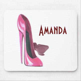 Pink Stiletto Shoes Art Mouse Pad