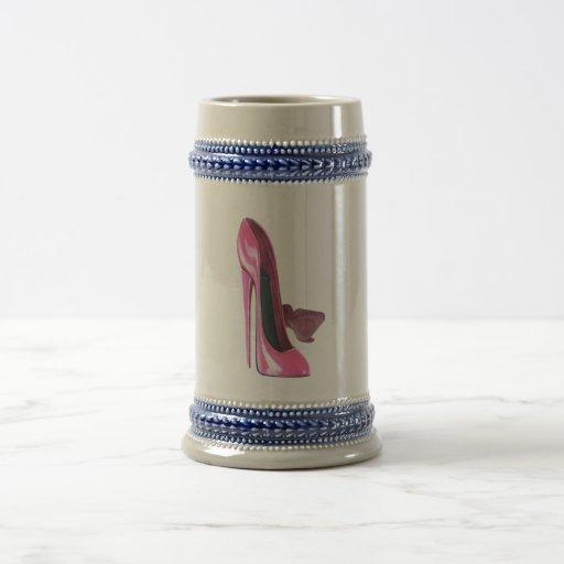 Pink Stiletto Shoes Art Mug