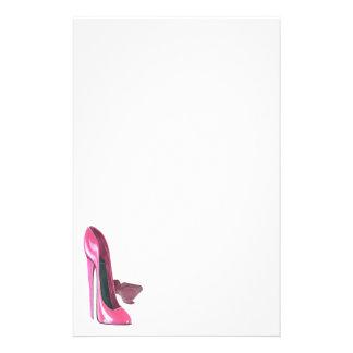 Pink Stiletto Shoes Art Custom Stationery