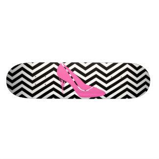 Pink Stiletto Skateboard