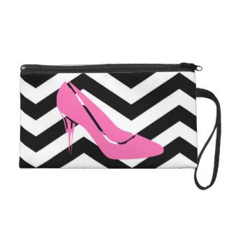Pink Stiletto Wristlet