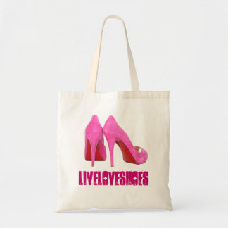 Pink Stilettos Shoe Addict Tote Bag