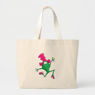 Pink Stilletto Happy Frog Tote Bags