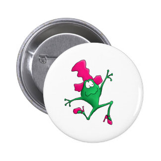Pink Stilletto Happy Frog Pin