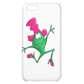 Pink Stilletto Happy Frog Case For iPhone 5C