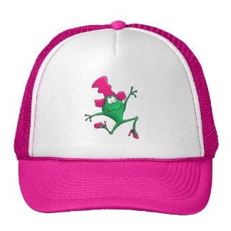 Pink Stilletto Happy Frog Trucker Hat