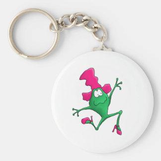 Pink Stilletto Happy Frog Keychains