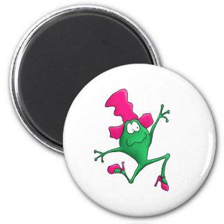 Pink Stilletto Happy Frog Fridge Magnet