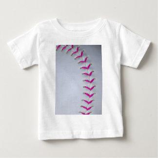 Pink Stitches Baseball / Softball Baby T-Shirt