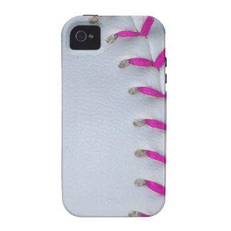 Pink Stitches Baseball / Softball iPhone 4 Case