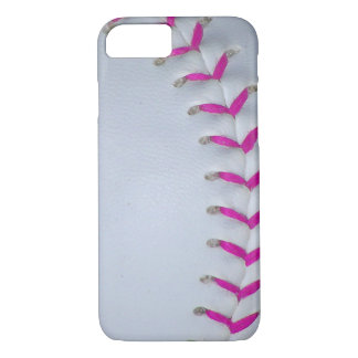 Pink Stitches Baseball / Softball iPhone 7 Case