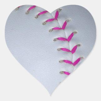 Pink Stitches Baseball / Softball Sticker