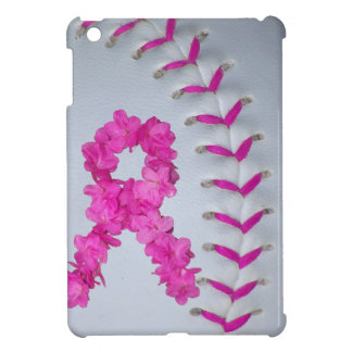 Pink Stitches Softball and Awareness Ribbon iPad Mini Cases