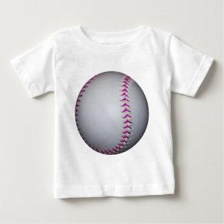 Pink Stitches Softball Baby T-Shirt