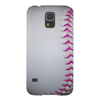 Pink Stitches Softball Galaxy S5 Case