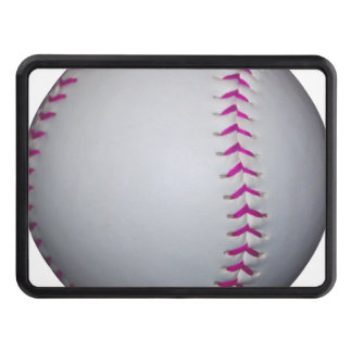 Pink Stitches Softball Trailer Hitch Cover
