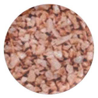 pink stone specks melamine plate