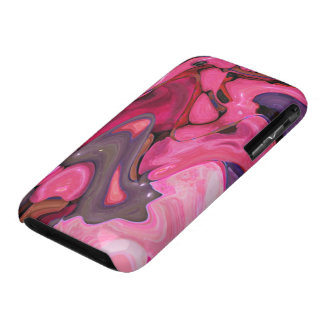 Pink Stones Abstract iPhone3 Case Mate