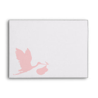 Pink Stork Envelope